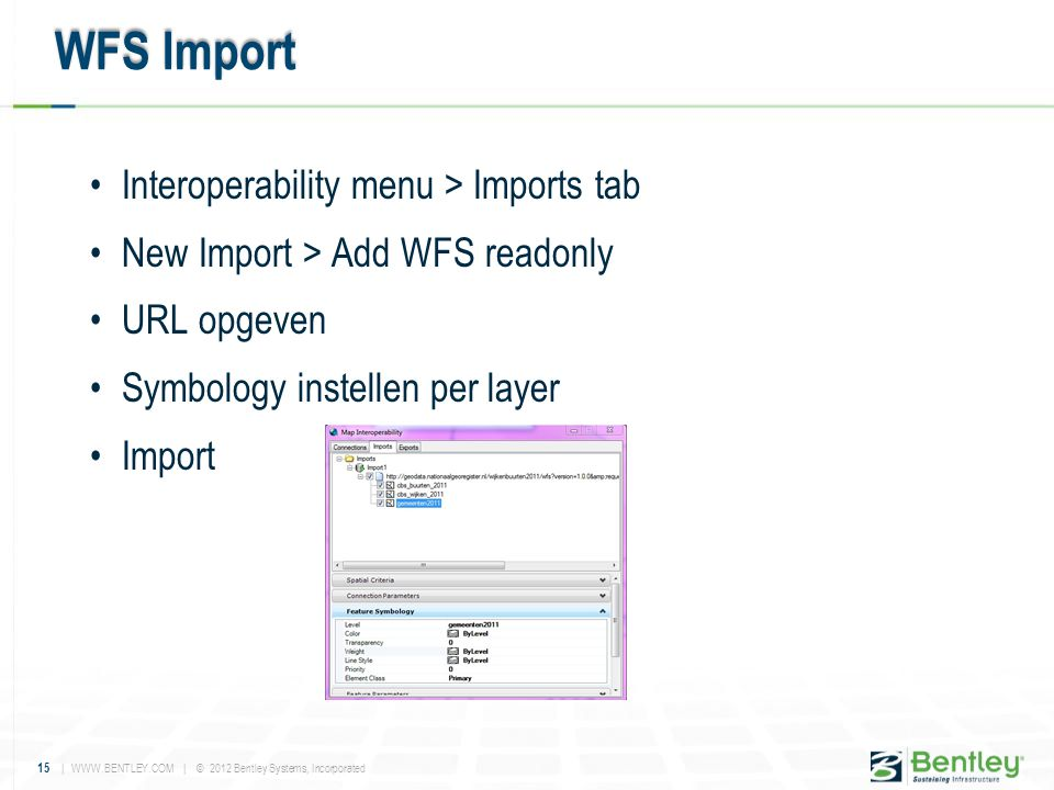 WFS Import Interoperability menu > Imports tab