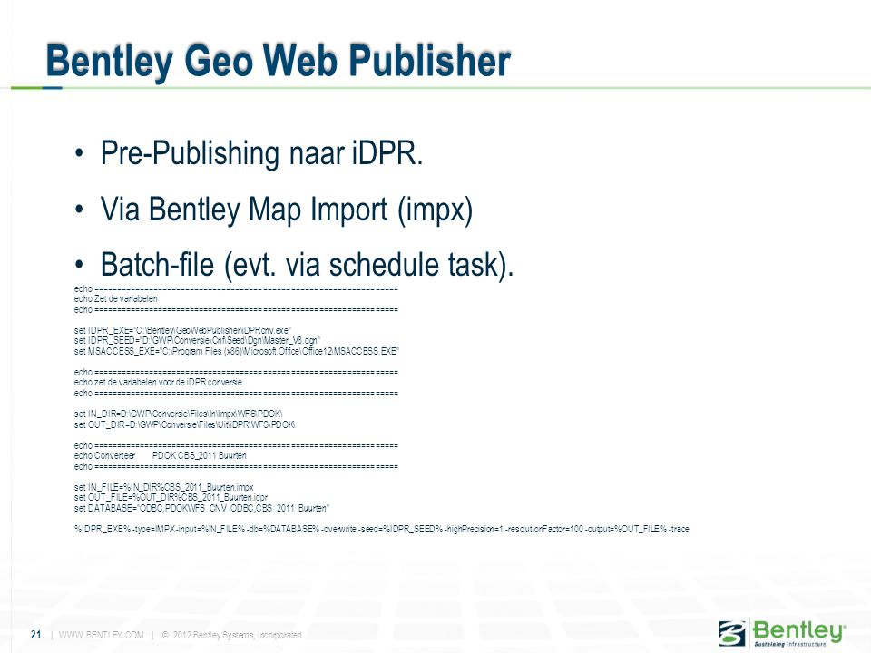 Bentley Geo Web Publisher