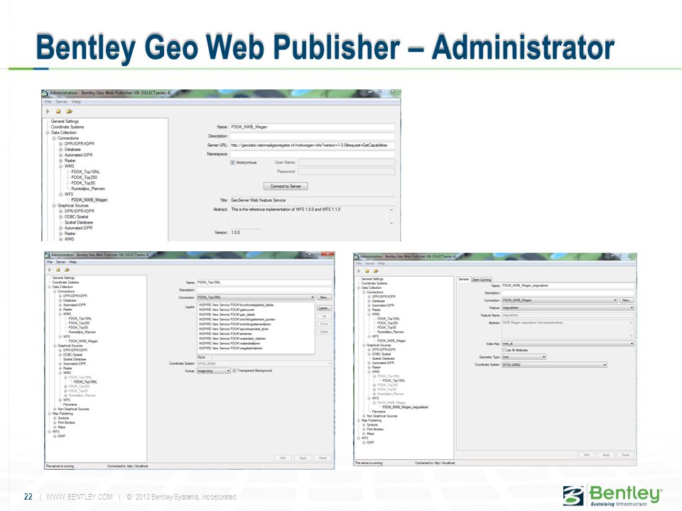 Bentley Geo Web Publisher – Administrator