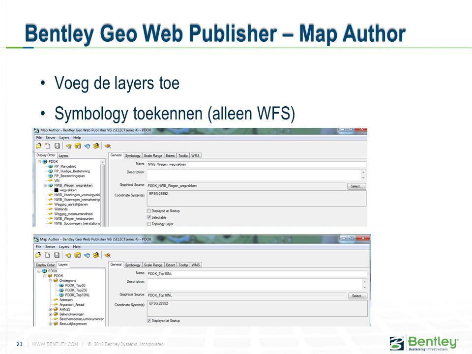 Bentley Geo Web Publisher – Map Author