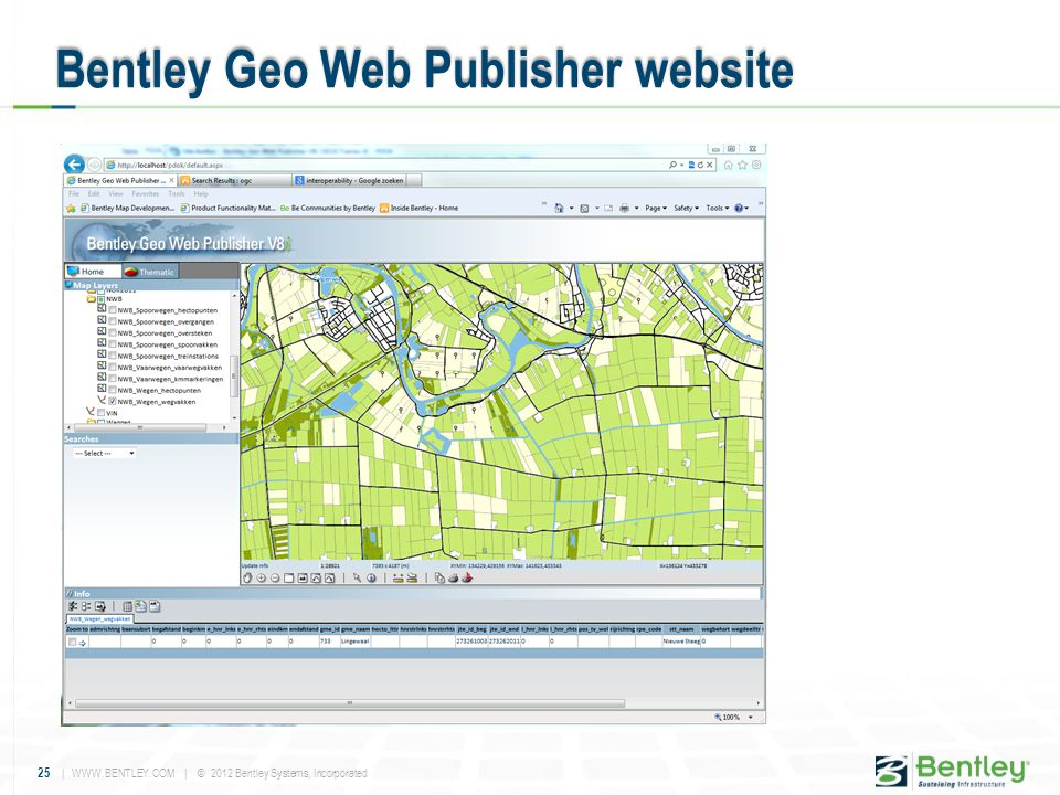 Bentley Geo Web Publisher website