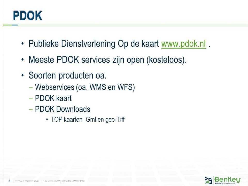 PDOK Publieke Dienstverlening Op de kaart www.pdok.nl .