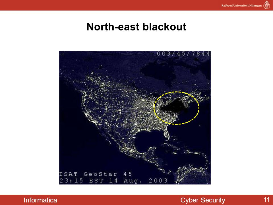 North-east blackout