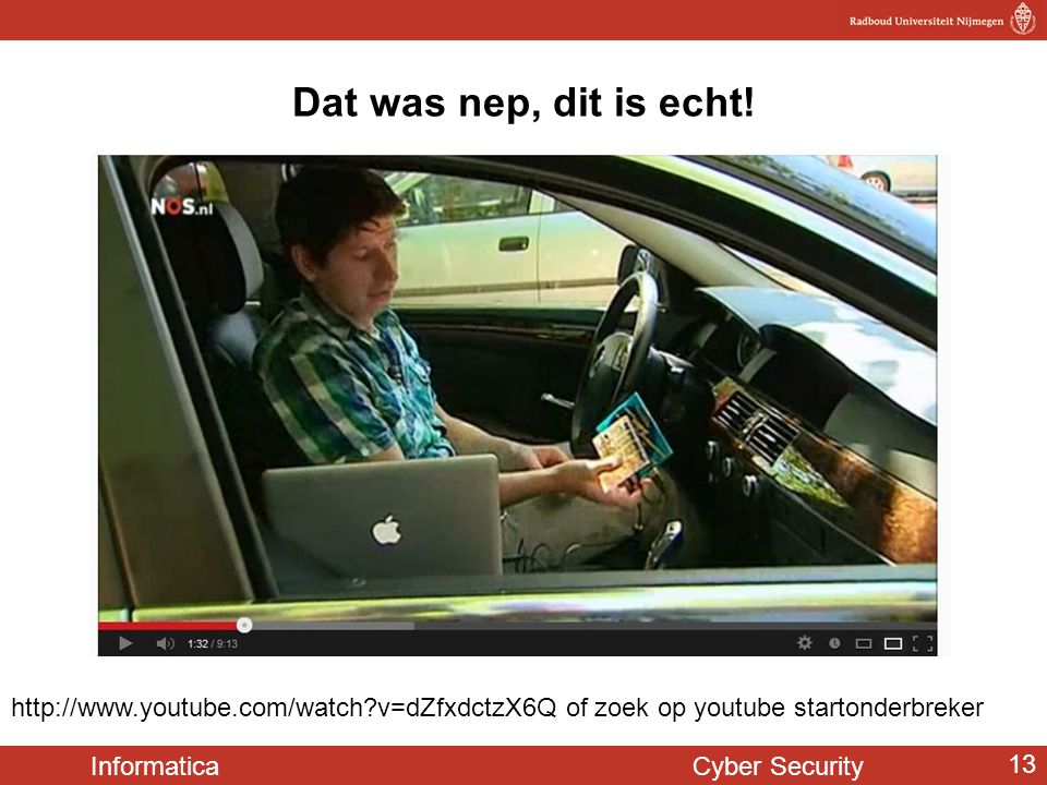 Dat was nep, dit is echt.