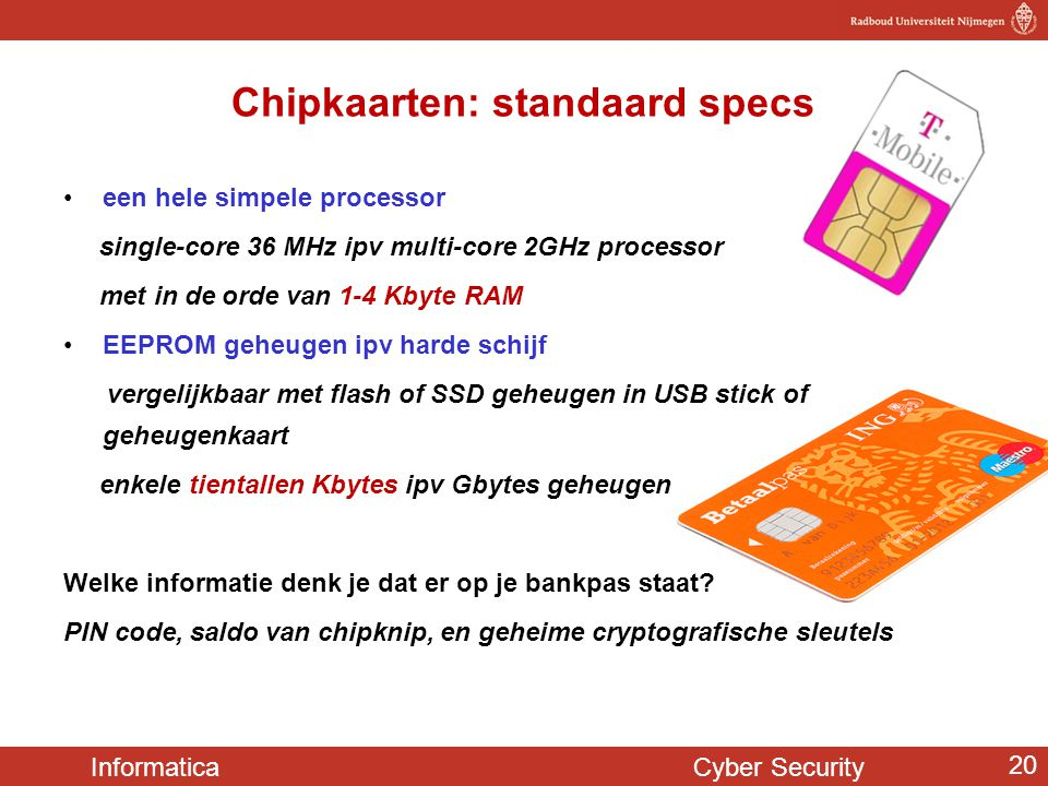 Chipkaarten: standaard specs