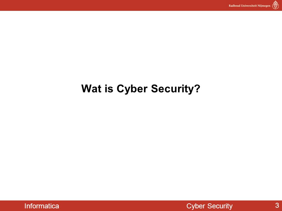 Wat is Cyber Security