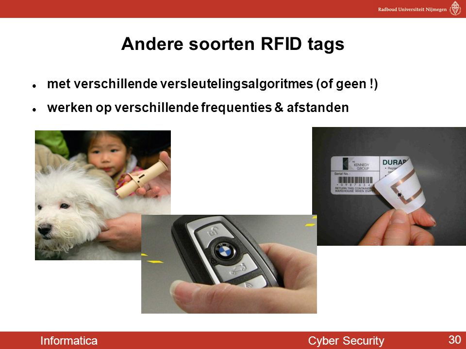 Andere soorten RFID tags