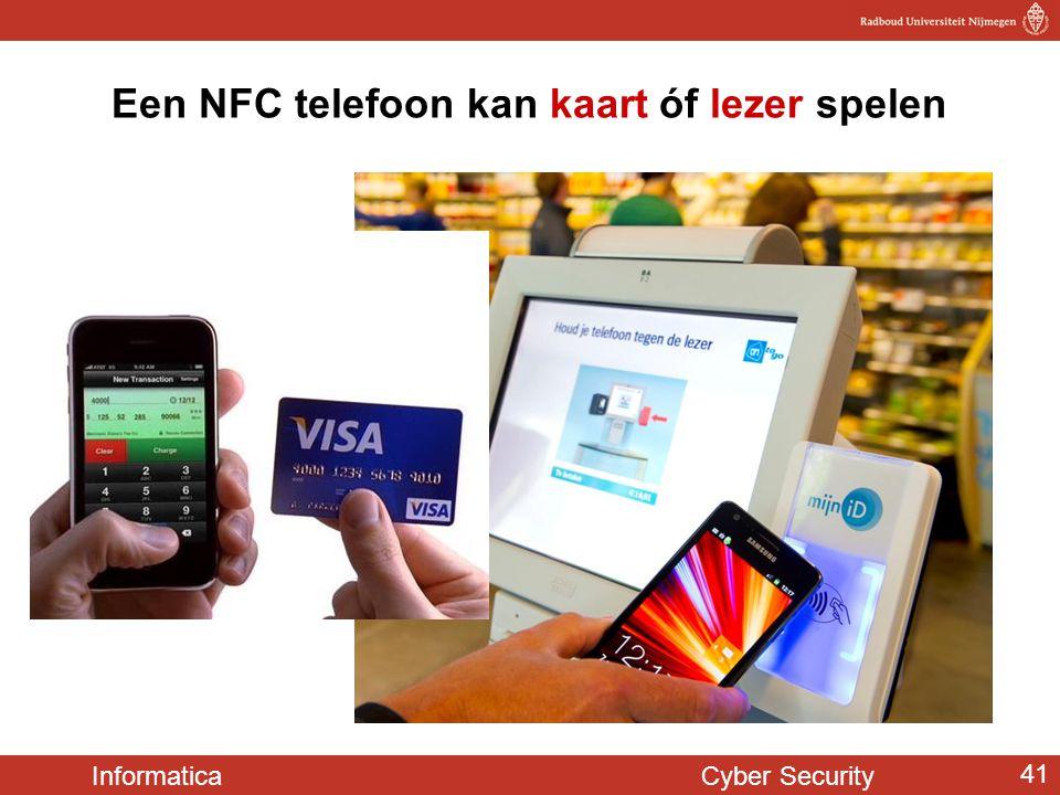 Een NFC telefoon kan kaart óf lezer spelen