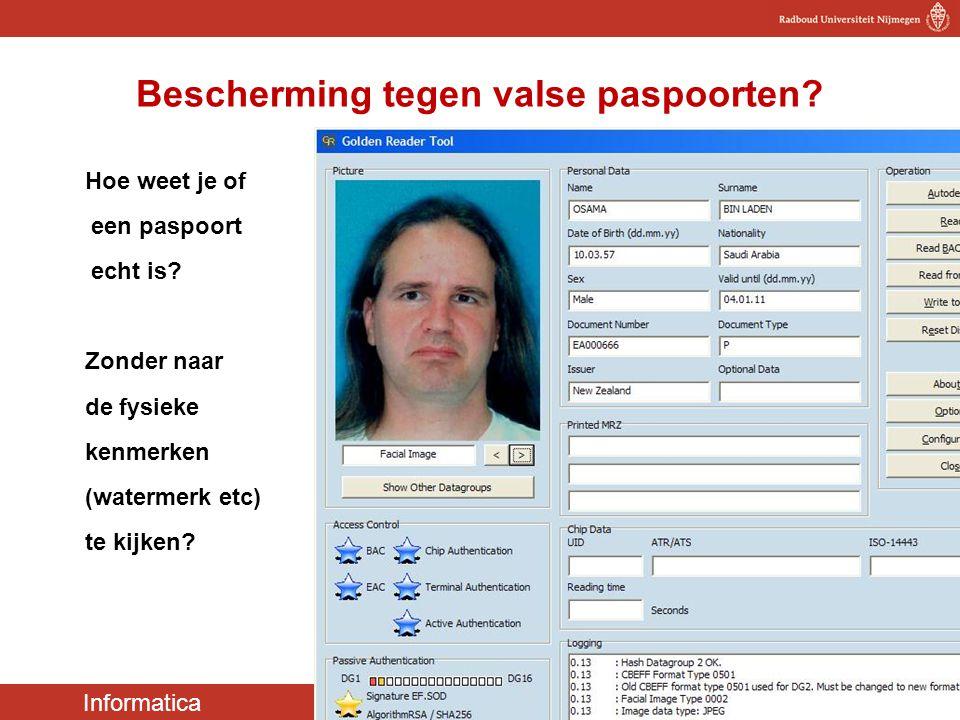 Bescherming tegen valse paspoorten