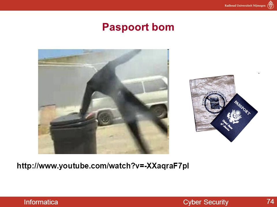 Paspoort bom http://www.youtube.com/watch v=-XXaqraF7pI