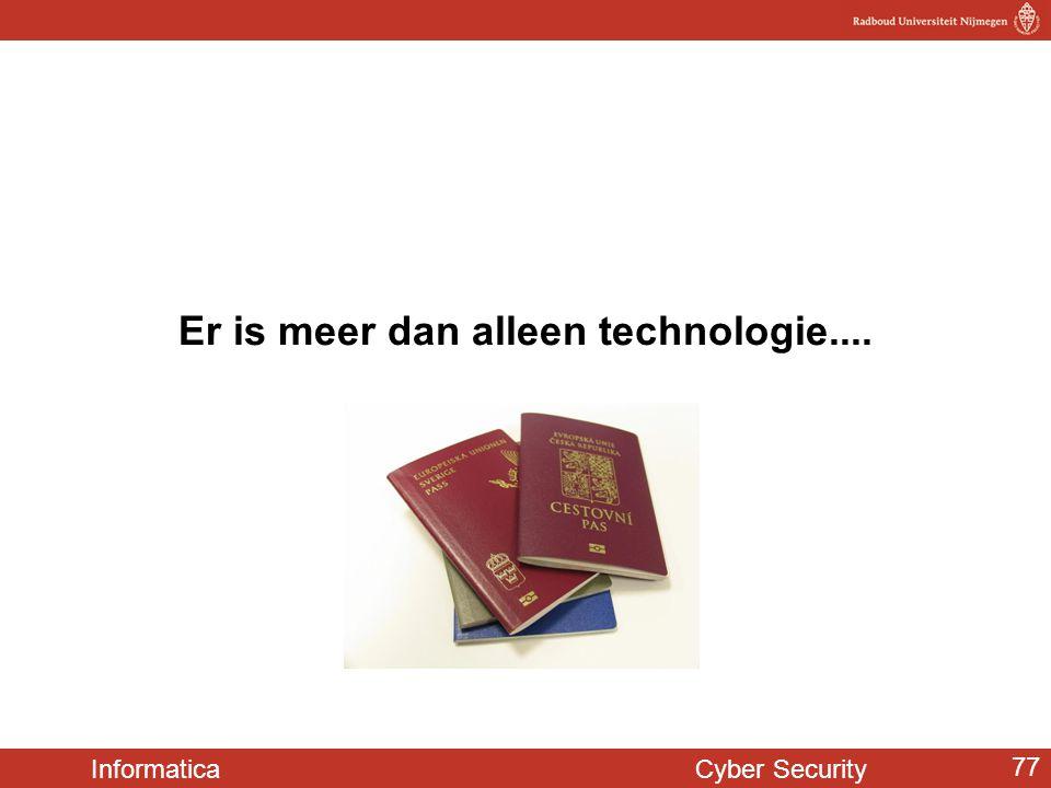 Er is meer dan alleen technologie....