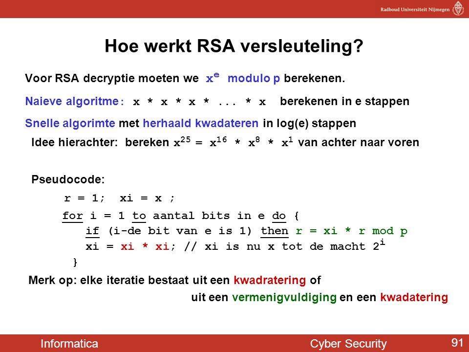 Hoe werkt RSA versleuteling