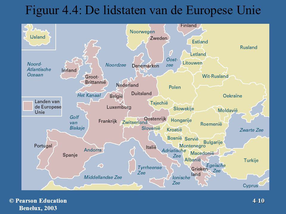 Figuur 4.4: De lidstaten van de Europese Unie
