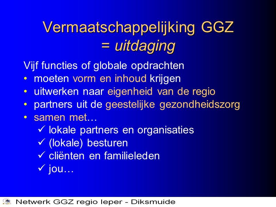 Vermaatschappelijking GGZ = uitdaging