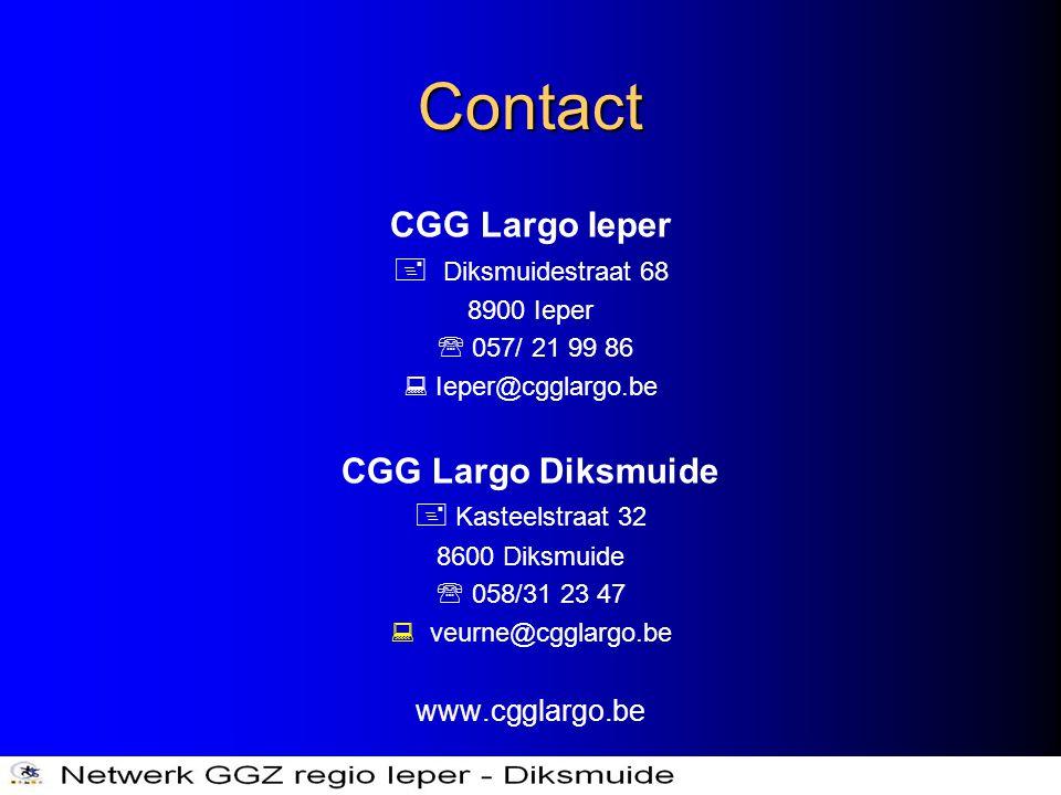 Contact CGG Largo Ieper CGG Largo Diksmuide  Diksmuidestraat 68