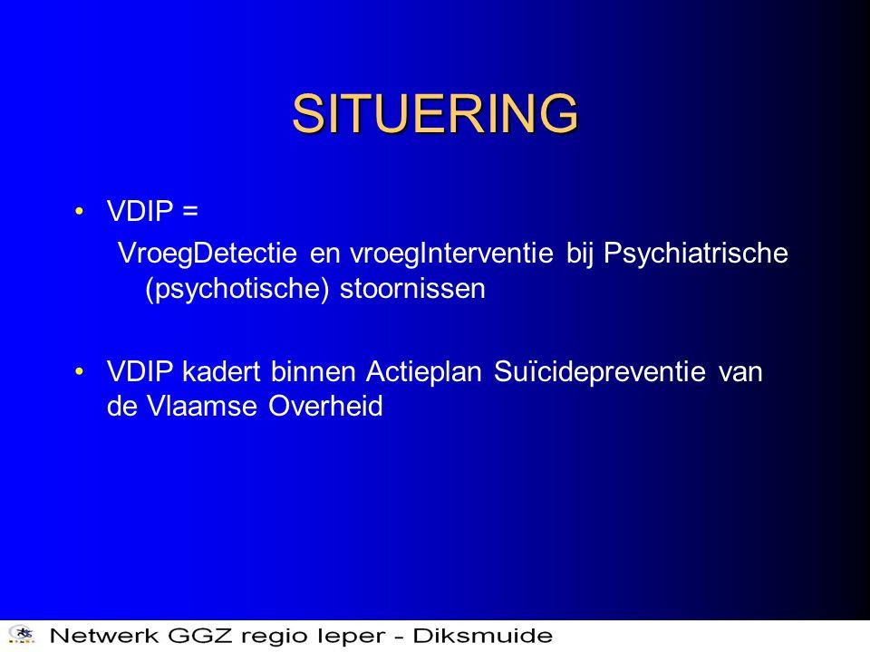 SITUERING VDIP = VroegDetectie en vroegInterventie bij Psychiatrische (psychotische) stoornissen.