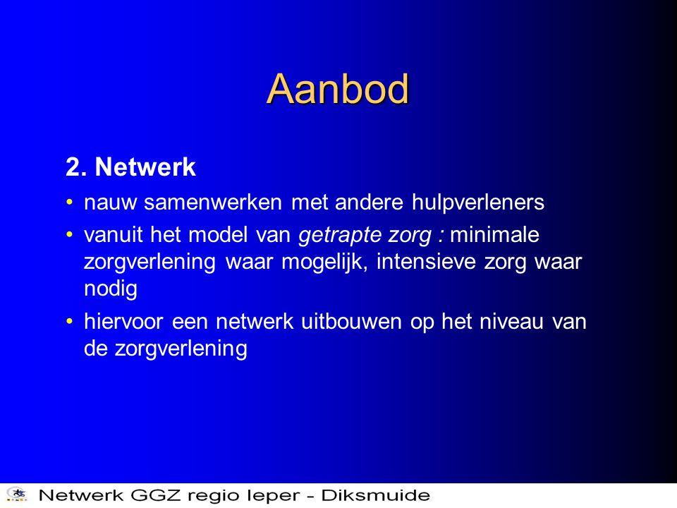 Aanbod 2. Netwerk nauw samenwerken met andere hulpverleners