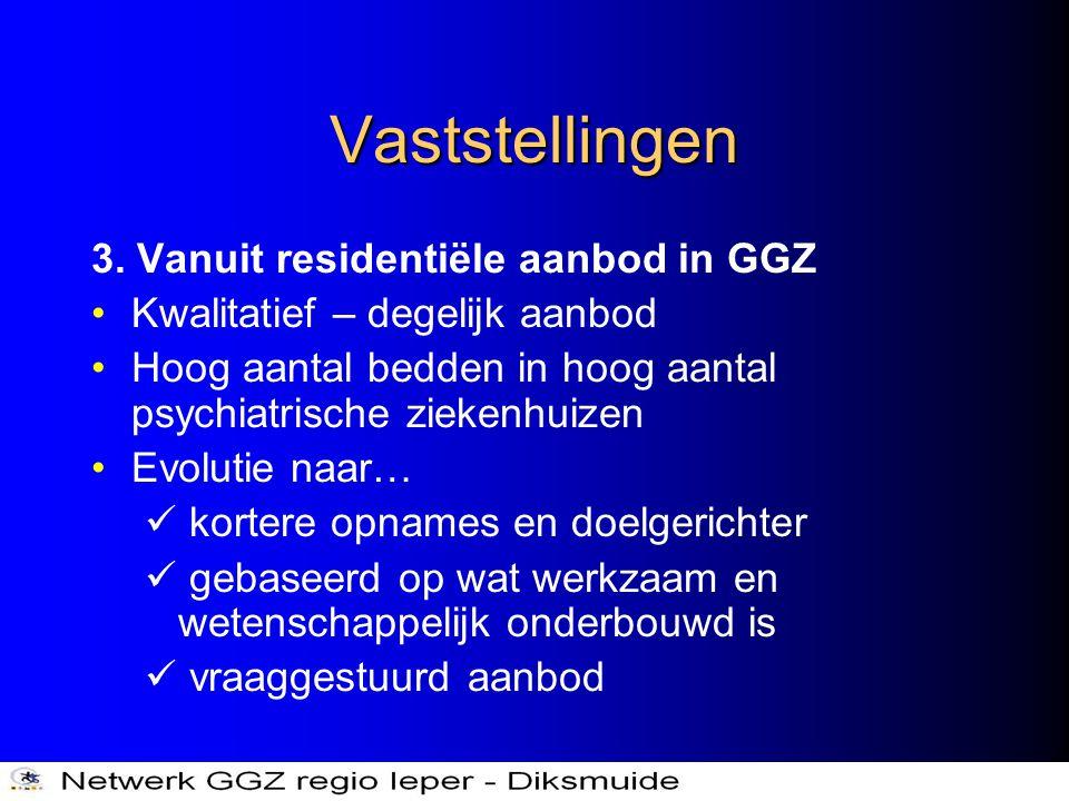 Vaststellingen 3. Vanuit residentiële aanbod in GGZ