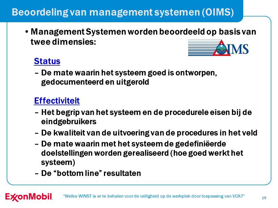 Beoordeling van management systemen (OIMS)