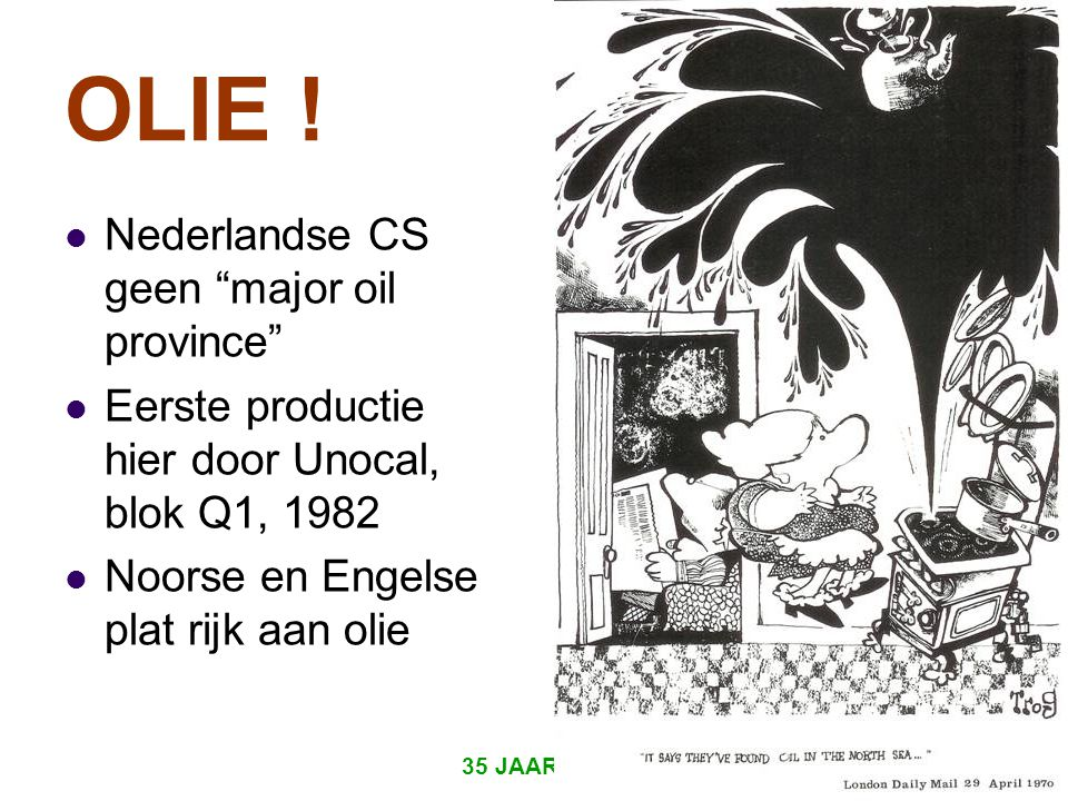 OLIE ! Nederlandse CS geen major oil province