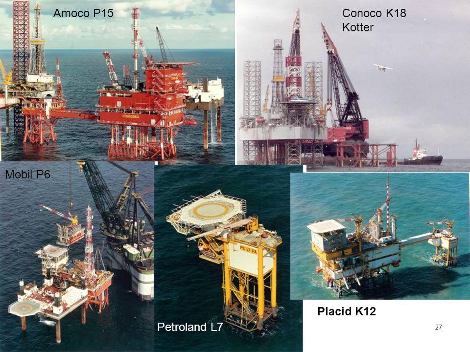 Amoco P15 Conoco K18 Kotter Mobil P6 Placid K12 Petroland L7