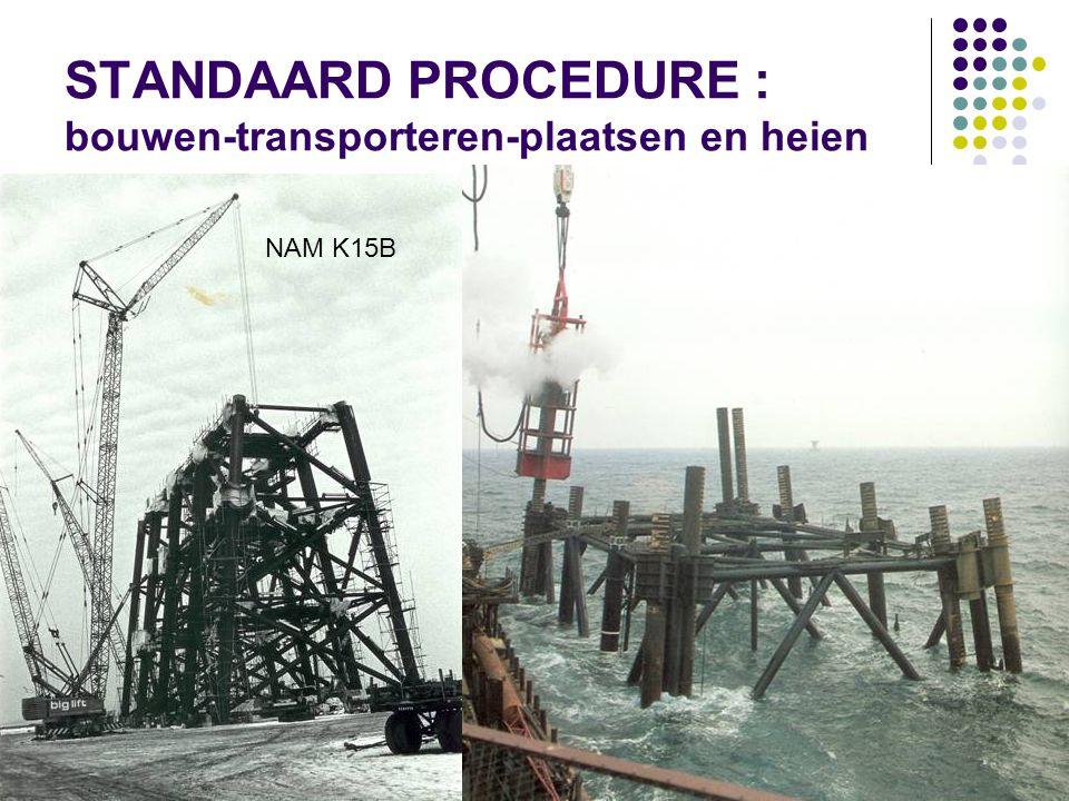 STANDAARD PROCEDURE : bouwen-transporteren-plaatsen en heien