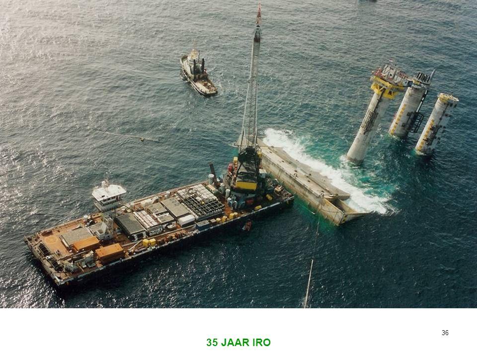 Waterdiepte 43 m. Projectkosten 750 miljoen gulden