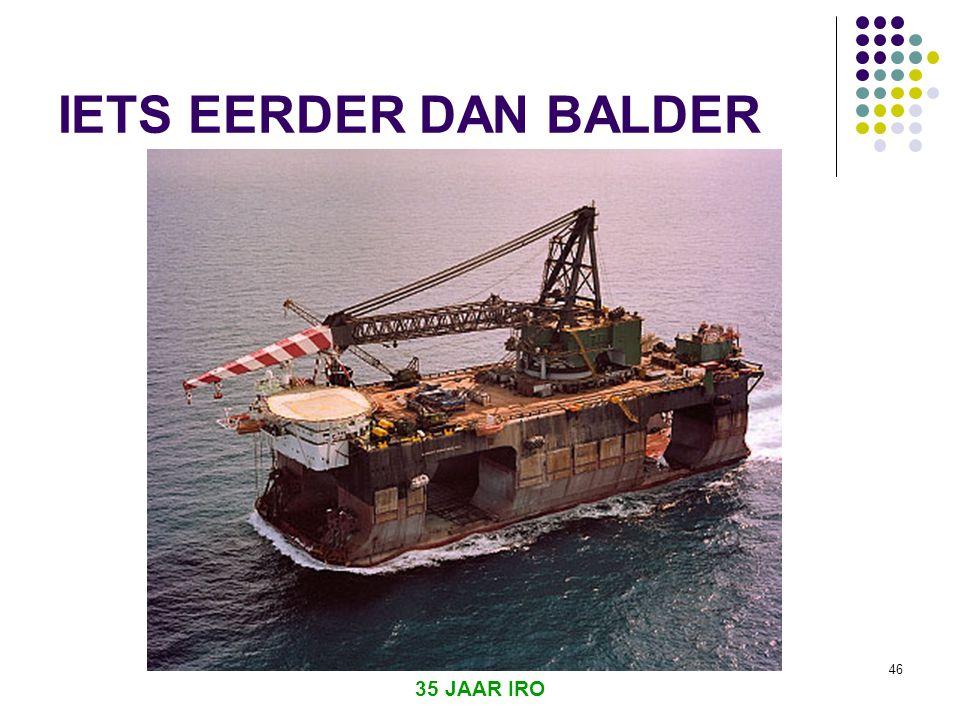 IETS EERDER DAN BALDER 35 JAAR IRO