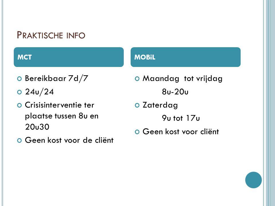 Praktische info Bereikbaar 7d/7 24u/24