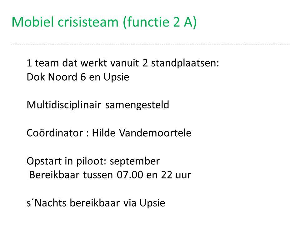 Mobiel crisisteam (functie 2 A)