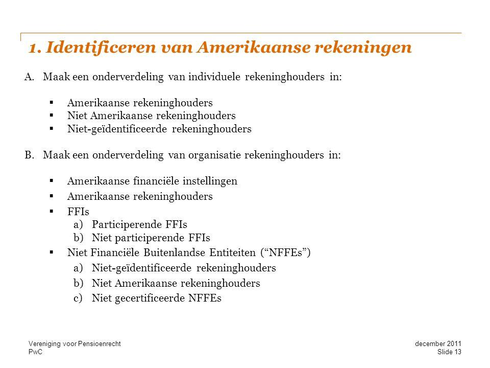 1. Identificeren van Amerikaanse rekeningen