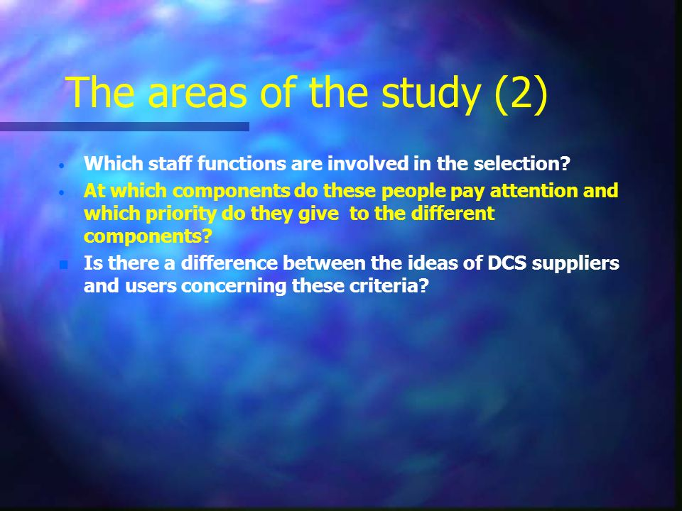 The areas of the study (2)