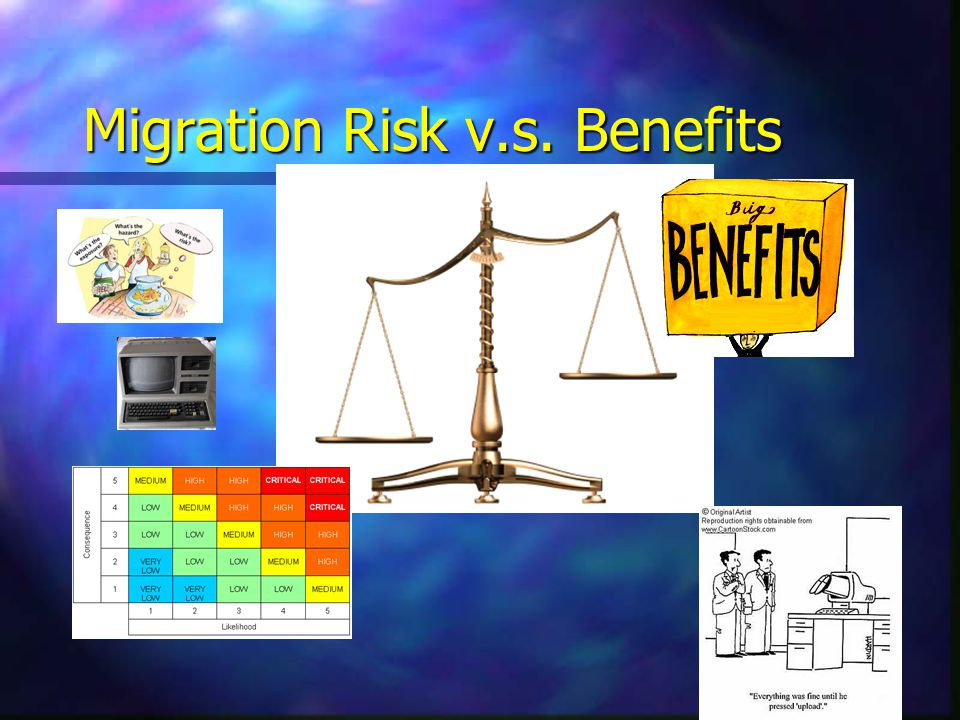 Migration Risk v.s. Benefits