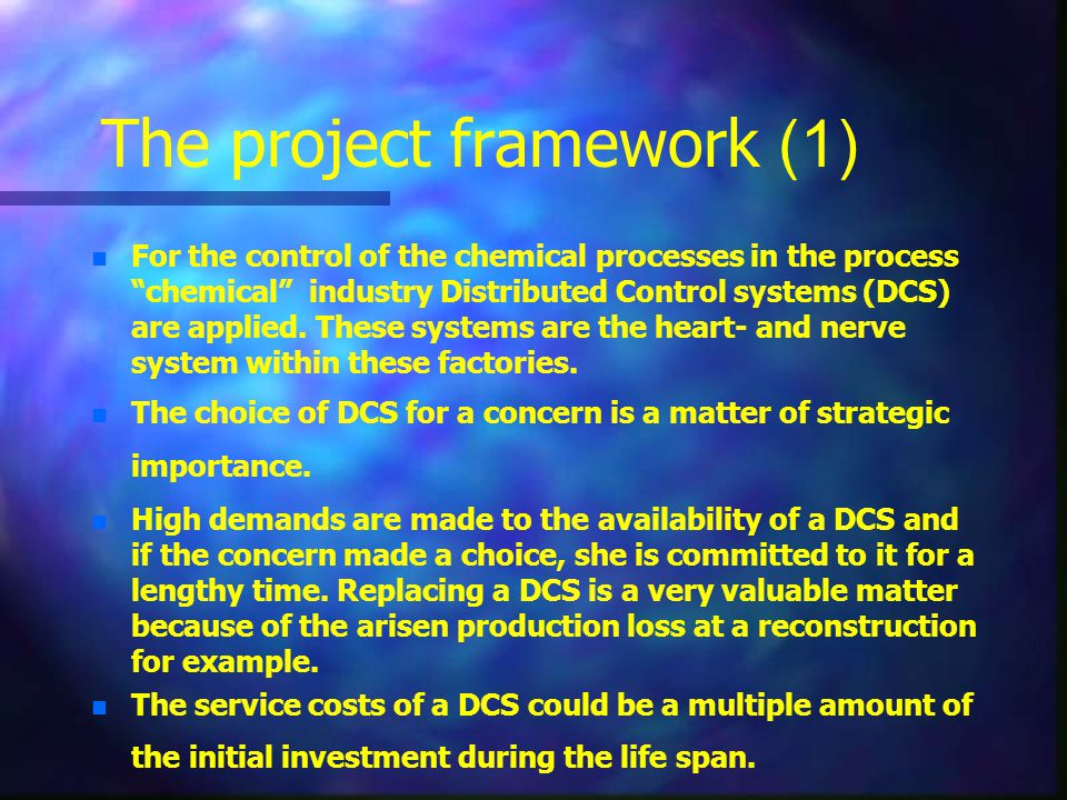 The project framework (1)
