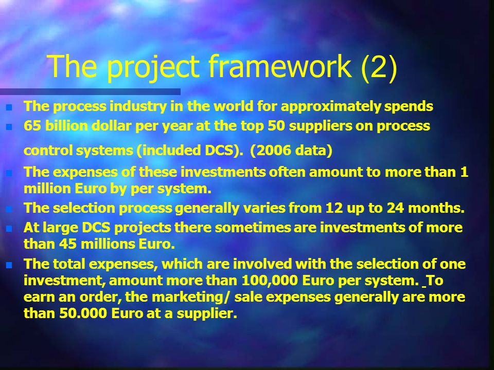 The project framework (2)