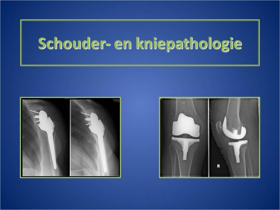 Schouder- en kniepathologie