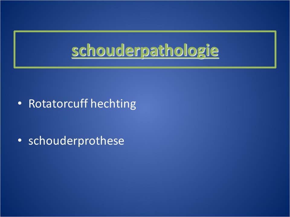 schouderpathologie Rotatorcuff hechting schouderprothese