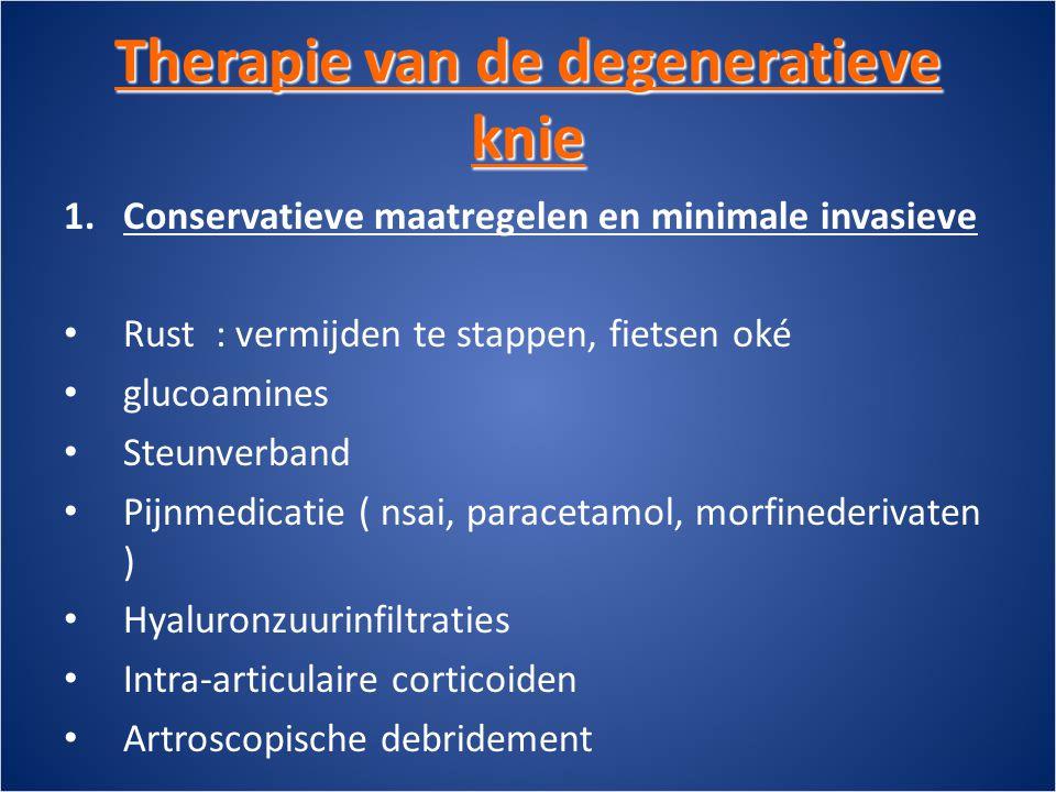 Therapie van de degeneratieve knie