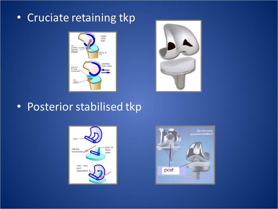Cruciate retaining tkp