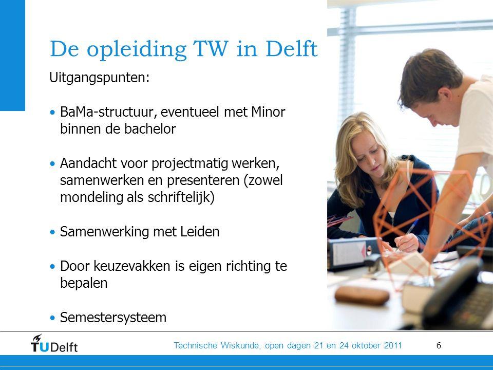 De opleiding TW in Delft