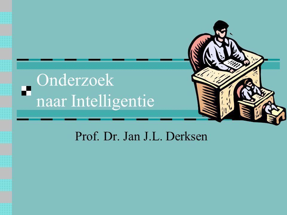 Onderzoek naar Intelligentie