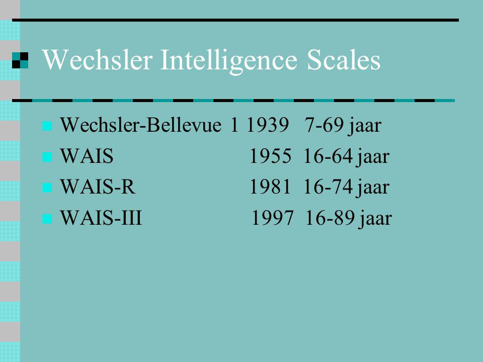 Wechsler Intelligence Scales