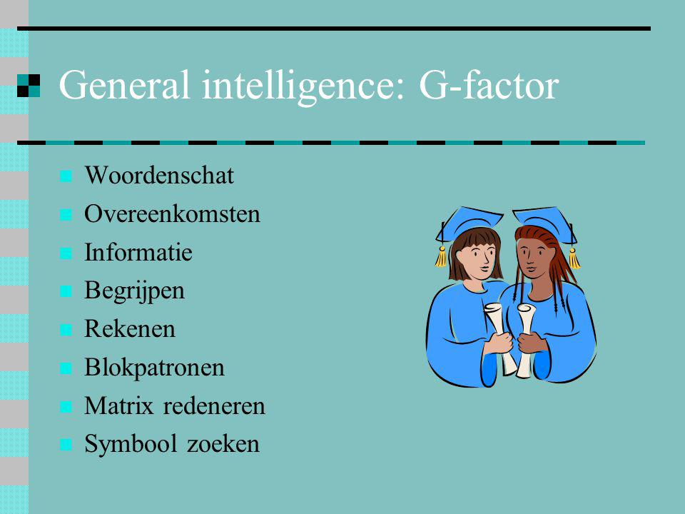 General intelligence: G-factor
