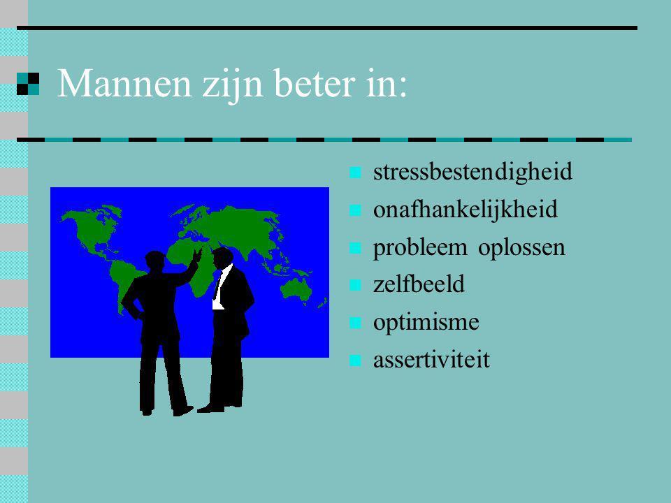 Mannen zijn beter in: stressbestendigheid onafhankelijkheid