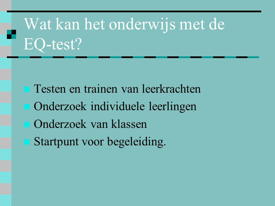 Wat kan het onderwijs met de EQ-test