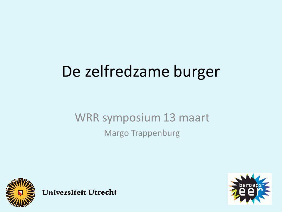 WRR symposium 13 maart Margo Trappenburg