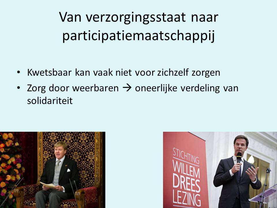 Van verzorgingsstaat naar participatiemaatschappij