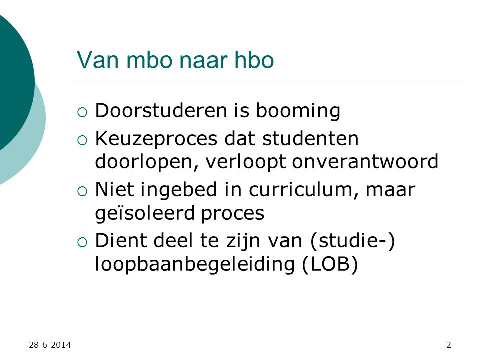 Van mbo naar hbo Doorstuderen is booming