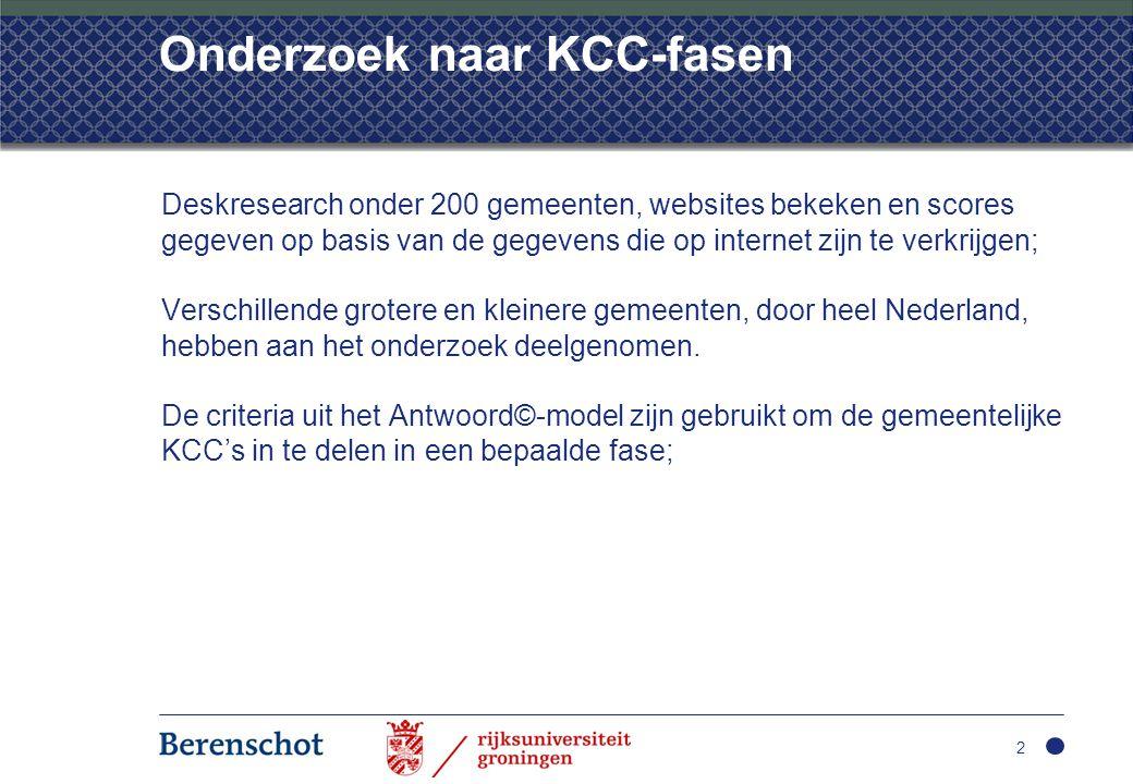 Onderzoek naar KCC-fasen