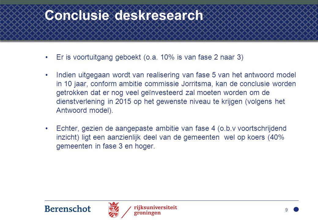 Conclusie deskresearch